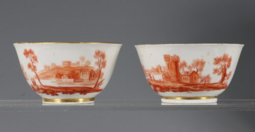 A Rare Pair of London Decorated Chinese Tea Bowls C1758-63 Probably James Giles