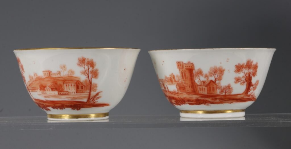 A Rare Pair of London Decorated Chinese Tea Bowls C1758-63 Probably James Giles 4