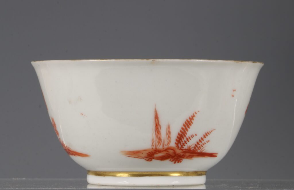A Rare Pair of London Decorated Chinese Tea Bowls C1758-63 Probably James Giles 5