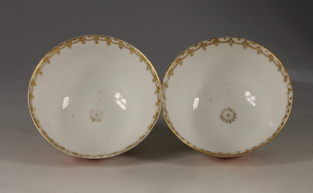 A Rare Pair of London Decorated Chinese Tea Bowls C1758-63 Probably James Giles 6