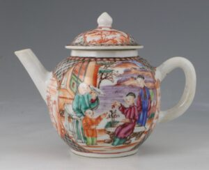 An Unusually Small Famille Rose Teapot Qianlong C1770