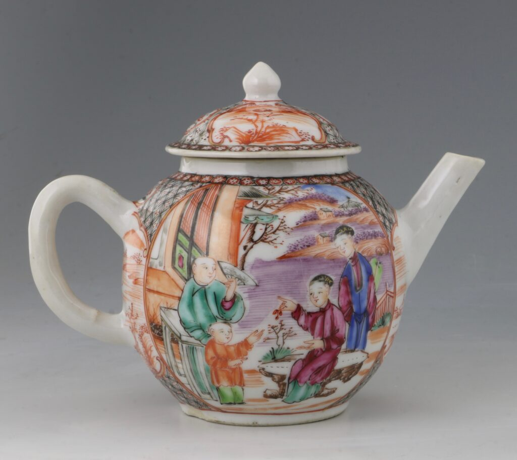 An Unusually Small Famille Rose Teapot Qianlong C1770 1