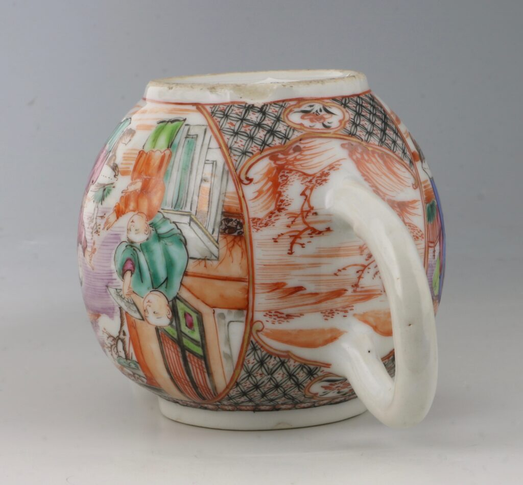 An Unusually Small Famille Rose Teapot Qianlong C1770 2