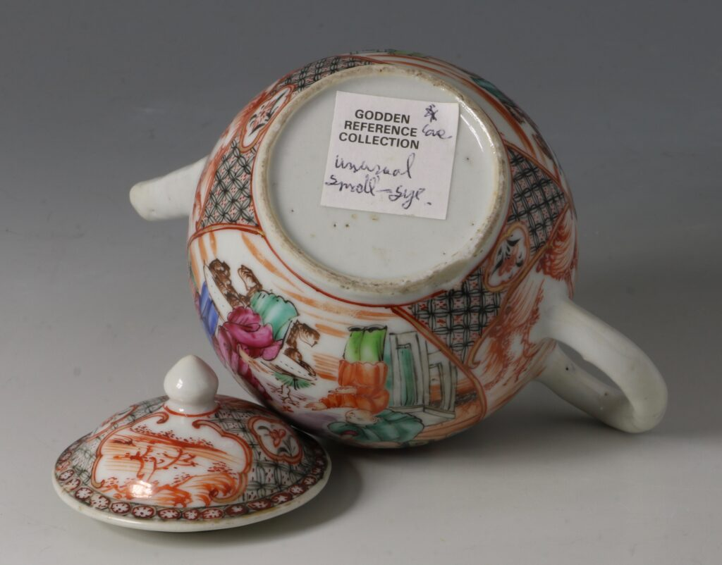 An Unusually Small Famille Rose Teapot Qianlong C1770 3