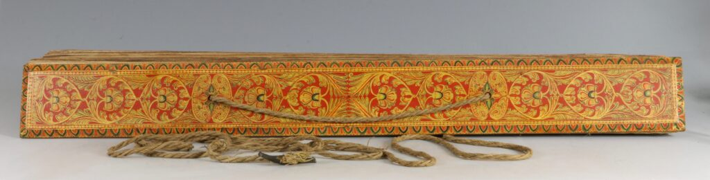 A Palm Leaf Manuscript with Lacquered Covers Sri Lanka 18/19thC