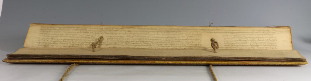 A Palm Leaf Manuscript with Lacquered Covers Sri Lanka 18/19thC 4