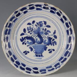 An English Delft Plate E18thC