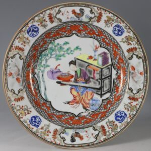 A Fine Famille Rose Plate C1735/45