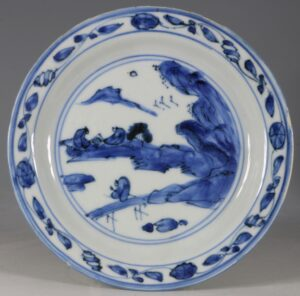 Late Ming Blue and White Ko-sometsuke Dish Tianqi