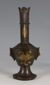 A Parcel Gilt Bronze Vase L Ming