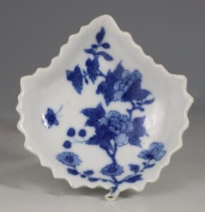 A Chinese Blue and White Pickle Leaf 18thC