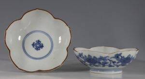 A Pair of Small Arita Blue and White Dishes L17thC