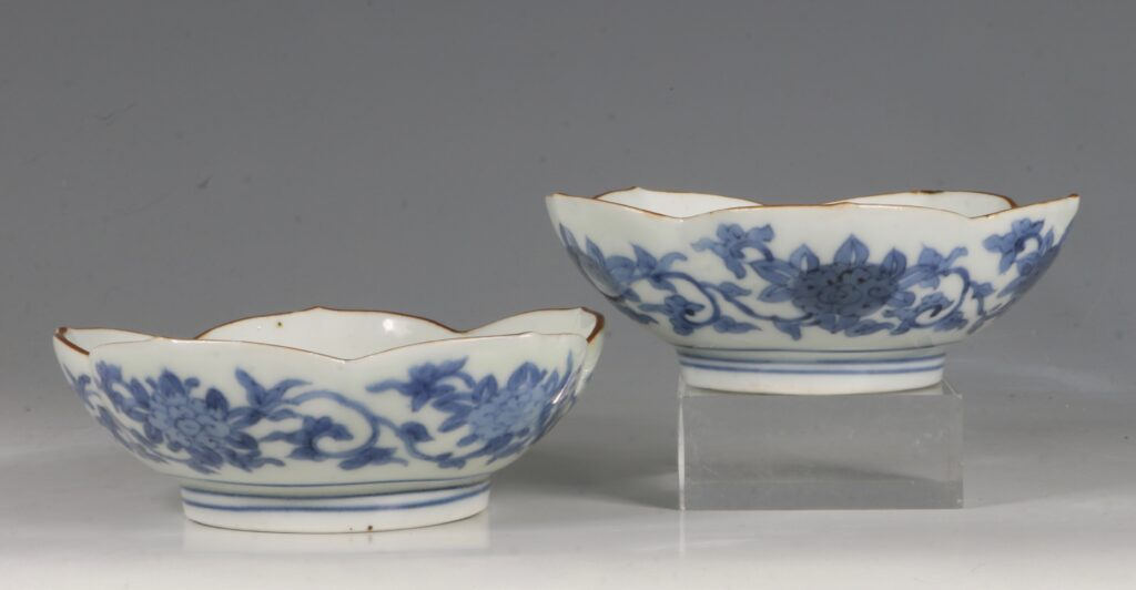 A Pair of Small Arita Blue and White Dishes L17thC 3