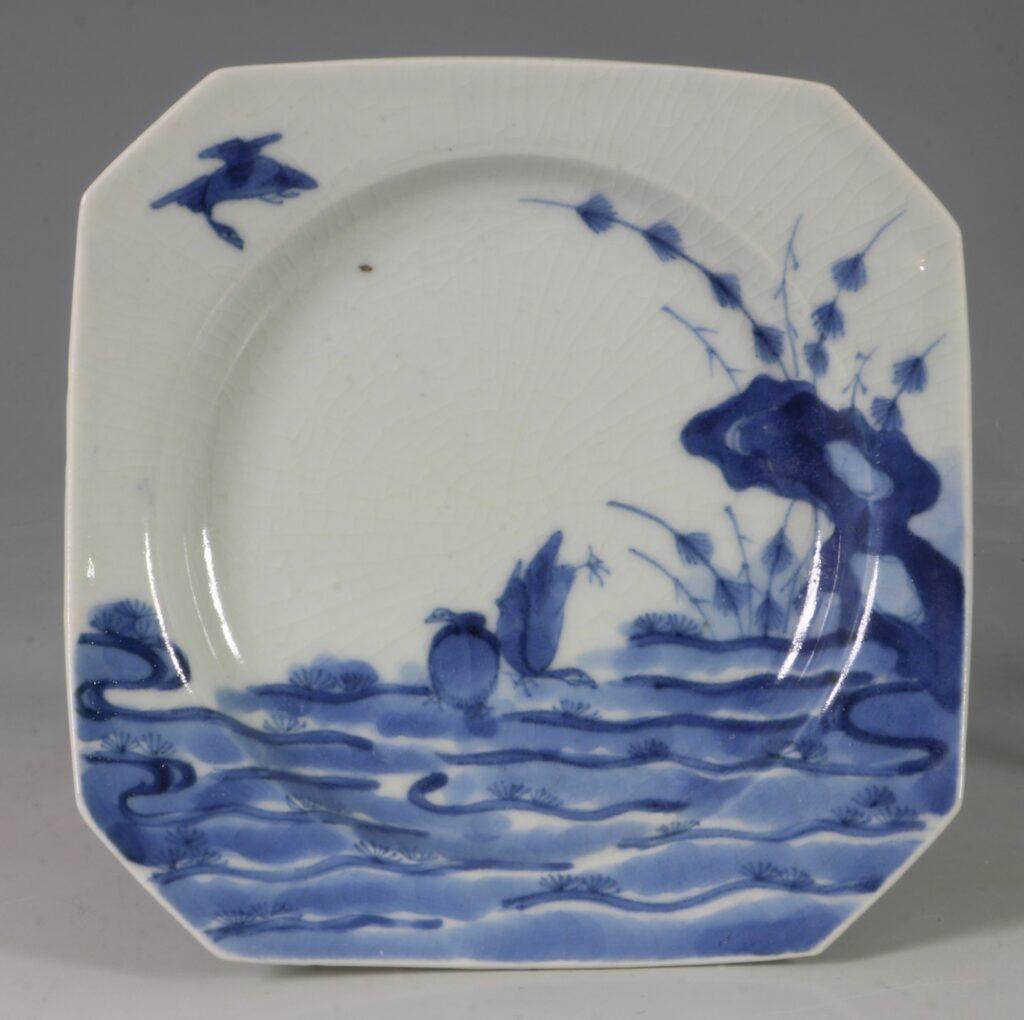 An Arita Blue and White Dish L17thC