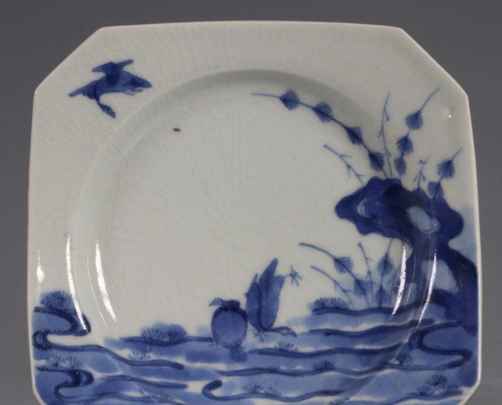 An Arita Blue and White Dish L17thC 2