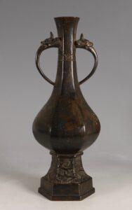 A Chinese Bronze Vase 14/15thC