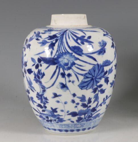 Kangxi Blue and Ovoid White Jar