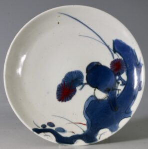 An Arita Blue and White Dish 17thC