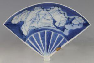 Japanese Arita Fan Shaped Dish L17thC