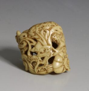 A Japanese Carved Fitting 18thC