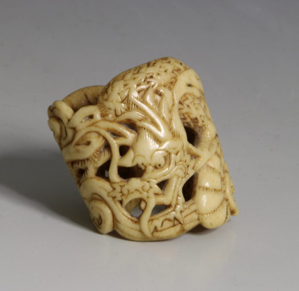 A Japanese Carved Fitting 18thC 1