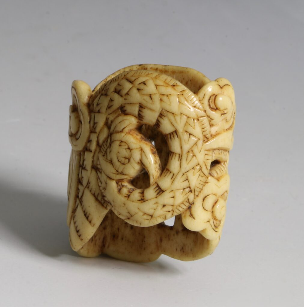 A Japanese Carved Fitting 18thC 2