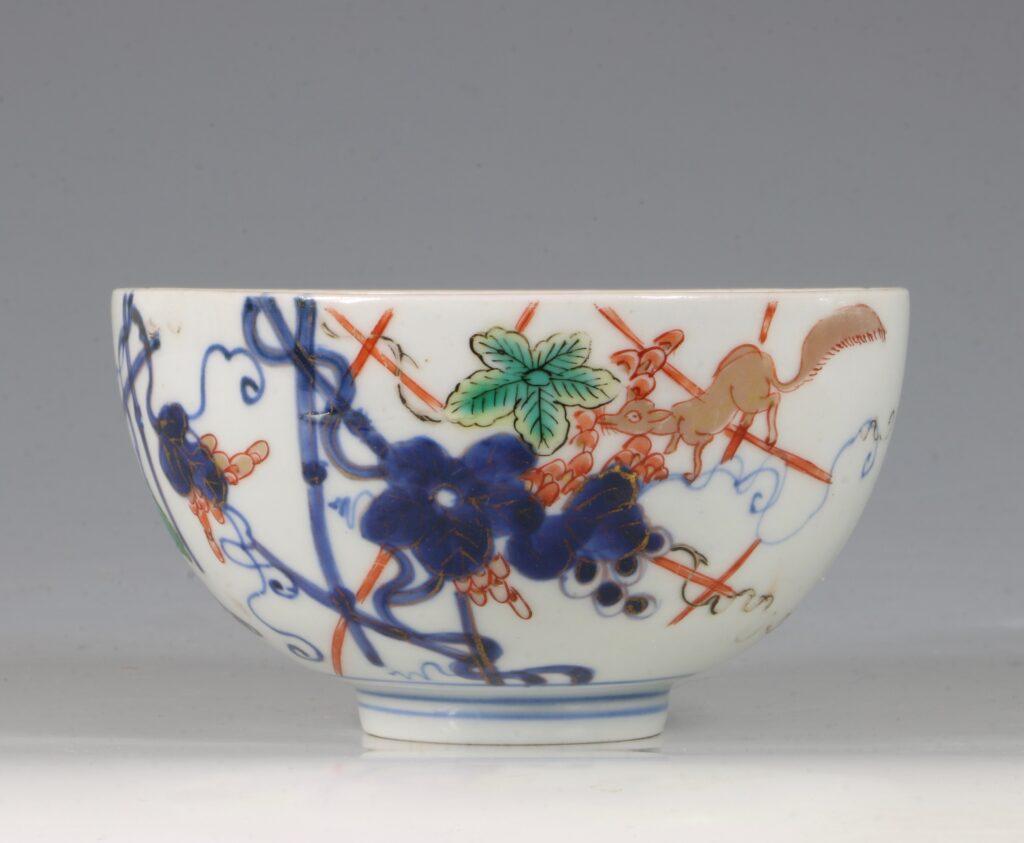 A Japanese Arita Polychrome Small Bowl E18thC
