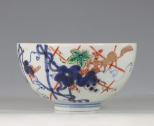 A Japanese Arita Polychrome Small Bowl E18thC