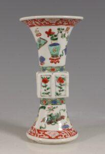 A Famille Verte Gu  Vase Kangxi