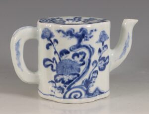 A Japanese Arita Blue and White Ewer E18thC