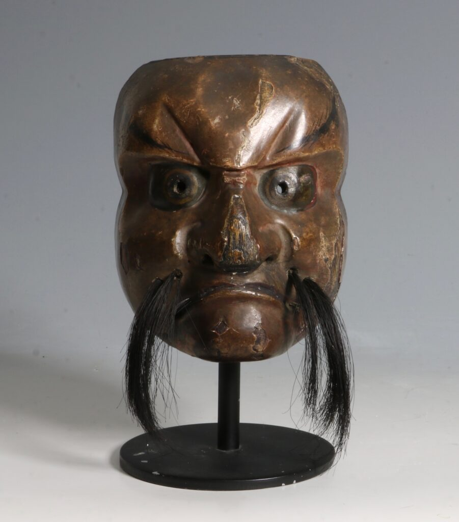 Japanese Lacquered Wood Small 'Noh' Mask 19thC