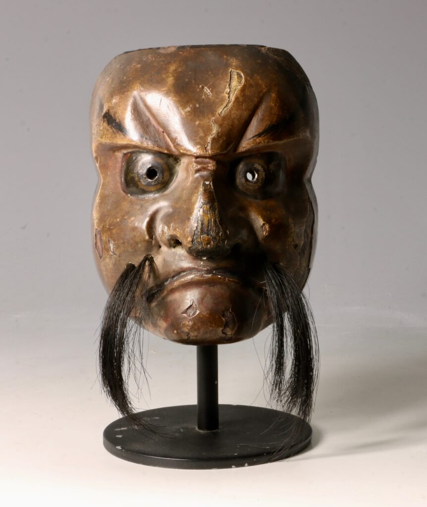 Japanese Lacquered Wood Small 'Noh' Mask 19thC 2