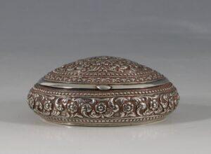 A Silver Snuff Box Sri Lanka C1900