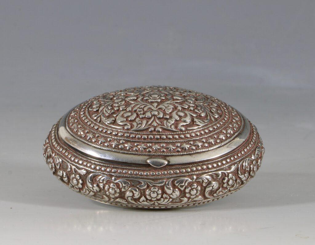A Silver Snuff Box Sri Lanka C1900 1