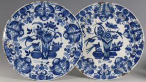 A Pair of Dutch Delft Plates E18thC