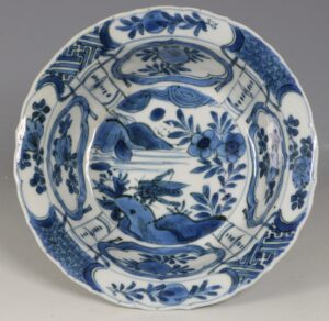 A Chinese Blue and White Kraak Klapmut E17thC