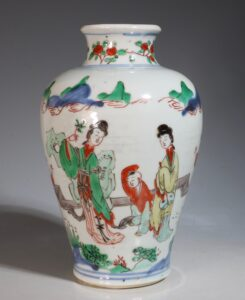 A Transitional Wucai Vase Shunzhi 1644-61