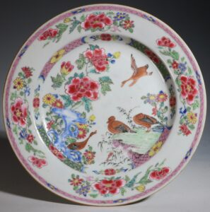 A Fine Famille Rose Plate Yongzheng