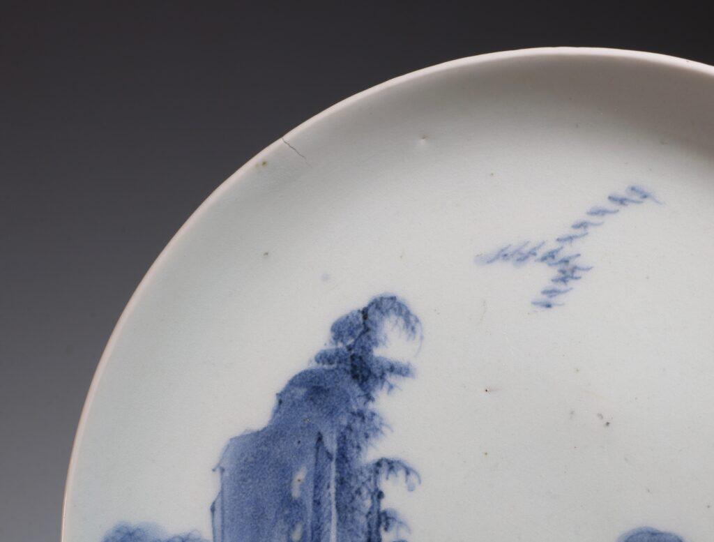 An Arita Blue and White Saucer Dish 17thC 2