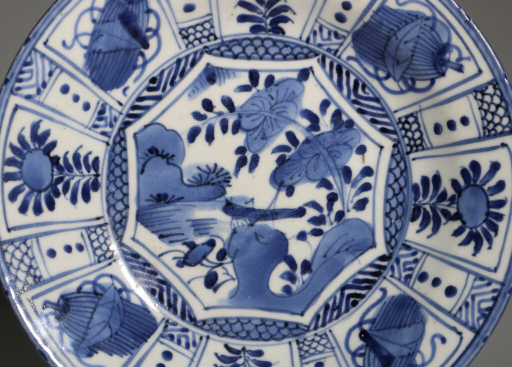 A Japanese Arita Blue and White Plate L17thC 1