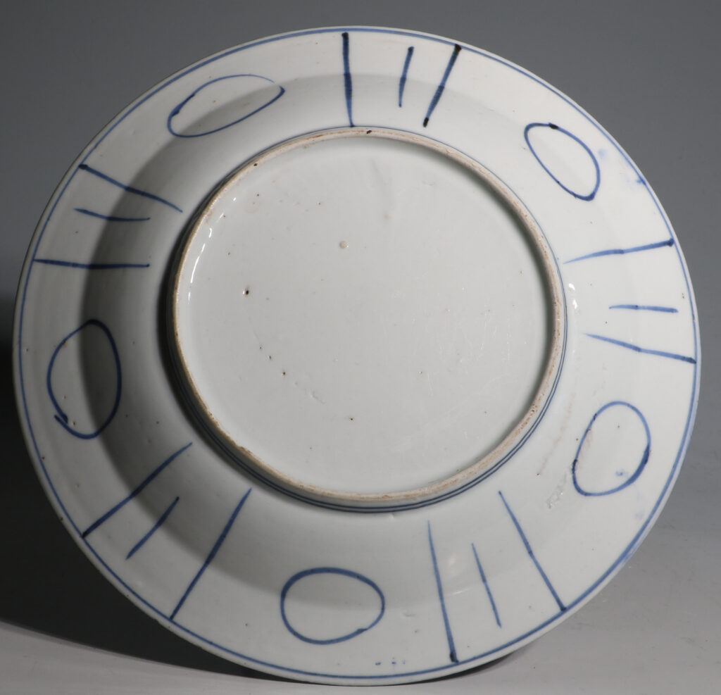 A Japanese Arita Blue and White Plate L17thC 2