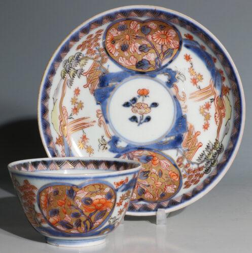 Japanese Arita Tea Bowl and Saucer E18thC