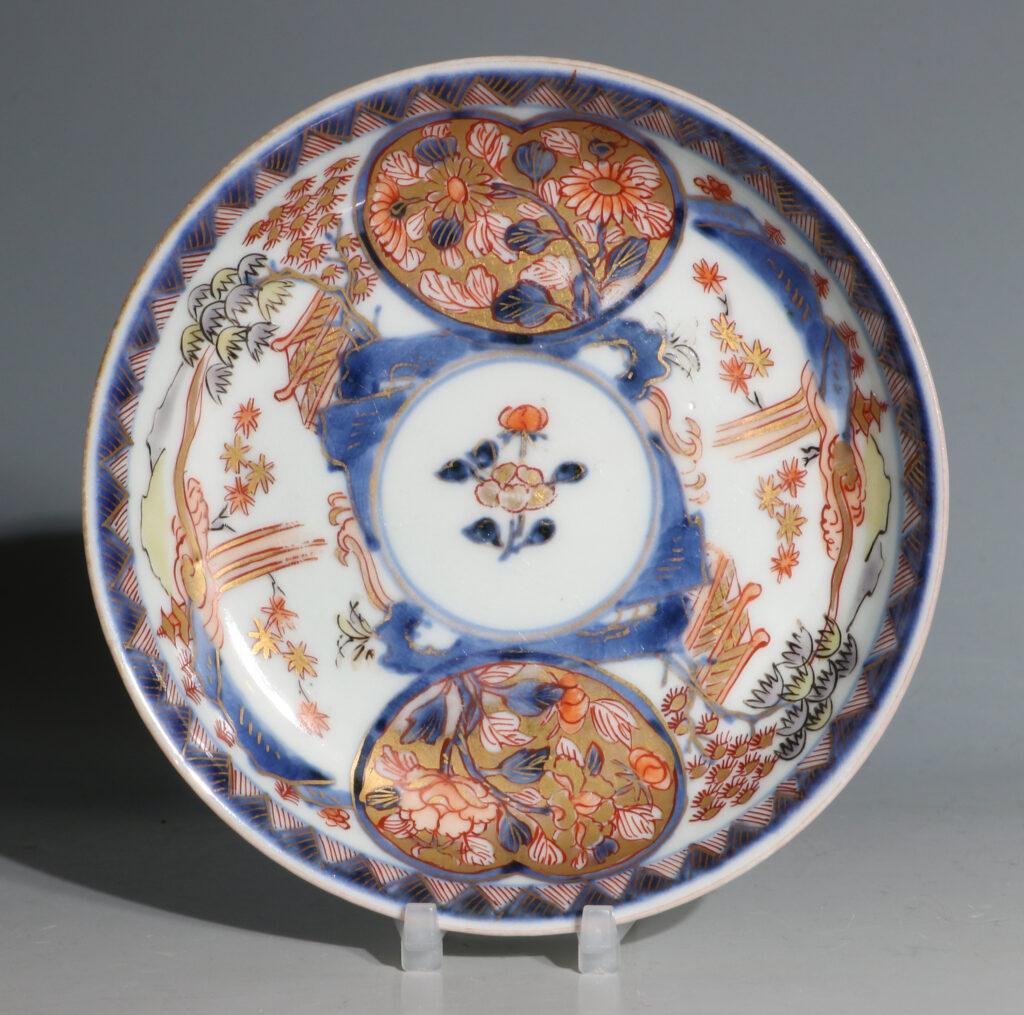 Japanese Arita Tea Bowl and Saucer E18thC 2