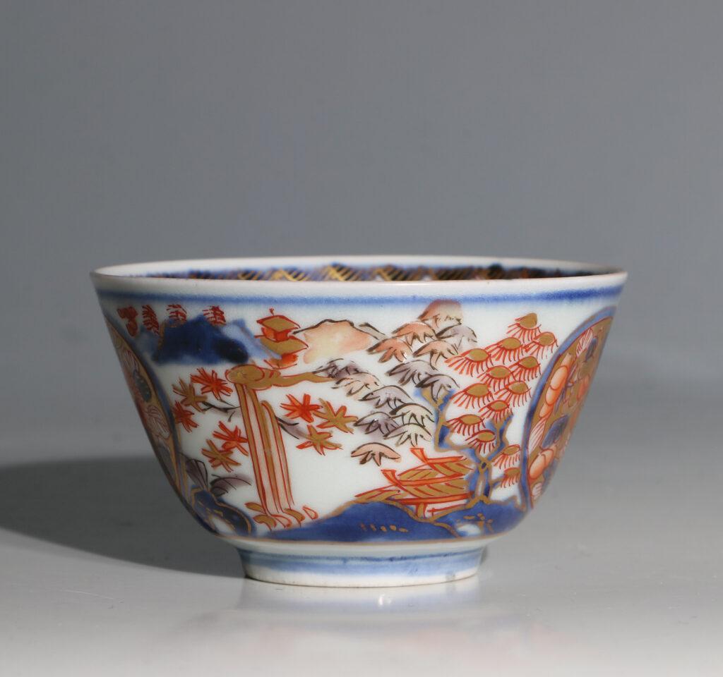 Japanese Arita Tea Bowl and Saucer E18thC 7