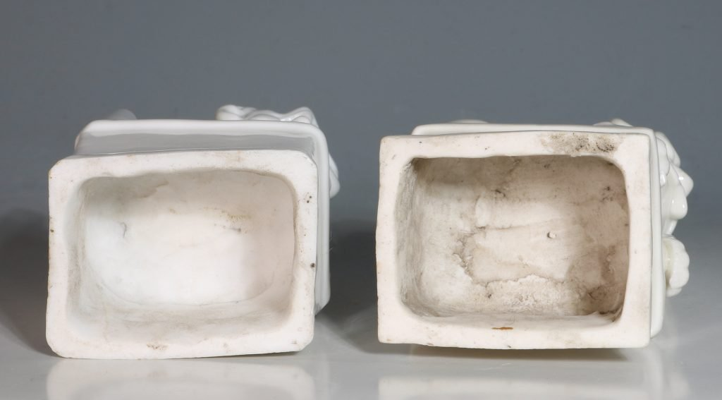 A Pair of Blanc de Chine Dogs of Fo Kangxi C1700 6