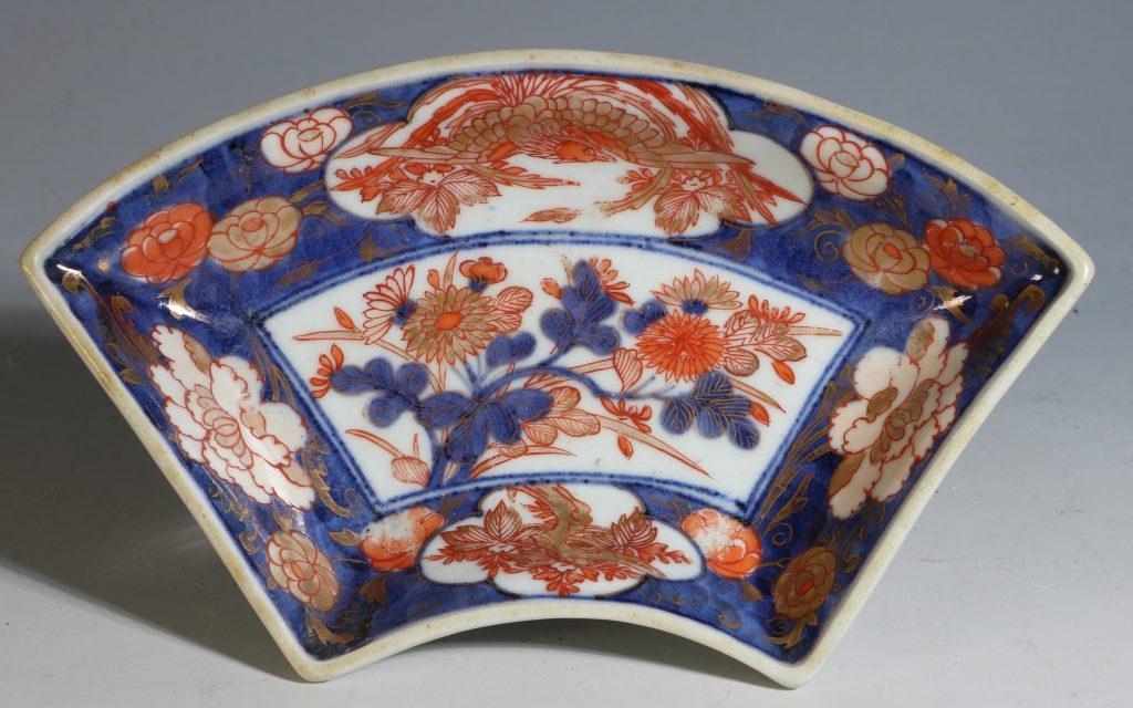 A Set of Four Japanese Fan Shape Dishes Imari E18thC 2