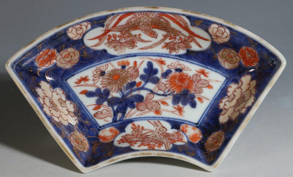 A Set of Four Japanese Fan Shape Dishes Imari E18thC 3