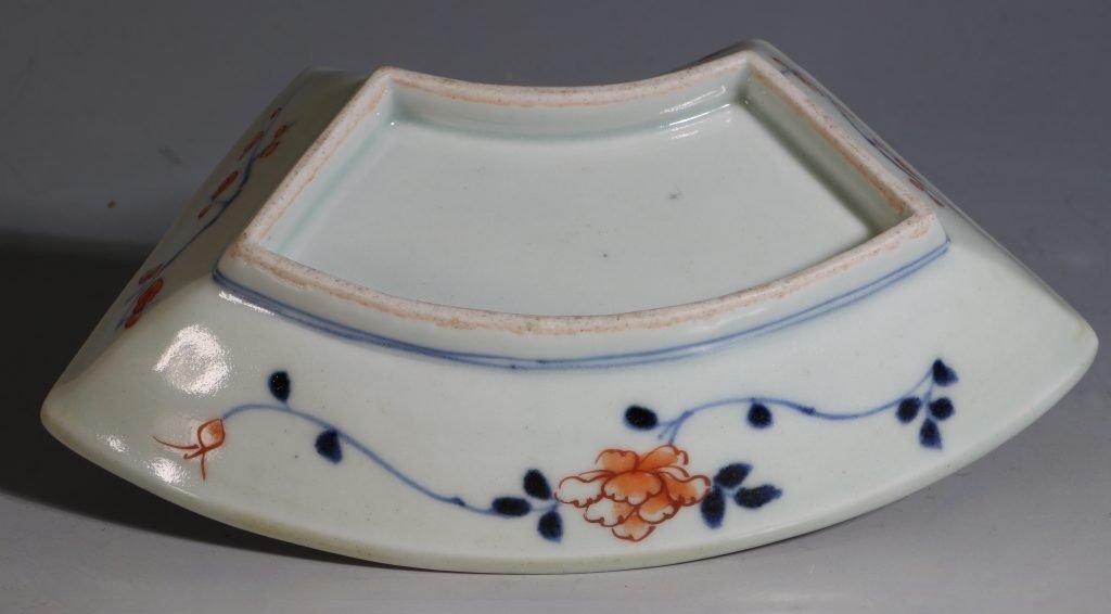A Set of Four Japanese Fan Shape Dishes Imari E18thC 7