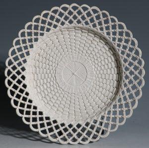 A Staffordshire Saltglaze 'Basket Work' Dish C1760