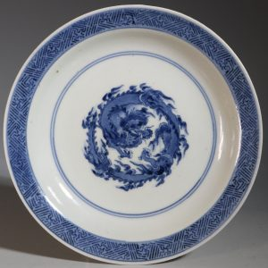A Japanese Blue and White Dish Arita 1680-1710